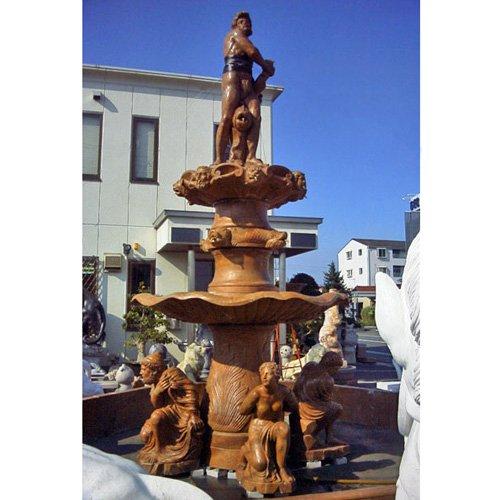 天然 大理石 彫刻 海神大噴水