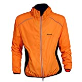 WOLFBIKE Cycling Jacket Jersey Sportswear Long Sleeve Wind Coat, Color: Orange, Size: M