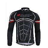 Nuckily Men's Cycling Long Sleeve Jacket Bicycle Shirt Cycling Clothing T-Shirts Cycling Jersey