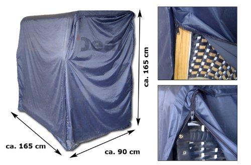 12702 Strandkorbabdeckung in Blau für Strandkörbe bis ca. 165cm x 165cm x 90cm