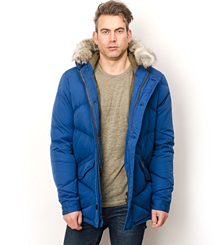 Scotch & Soda Midlength Quilted Coat – Blue