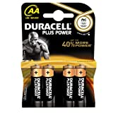 Duracell DUR017641 Plus Power AA Batterien (4er Pack)