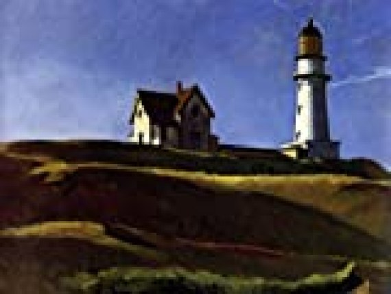 Lighthouse Hill- Edward Hopper - CANVAS OR FINE PRINT WALL ART