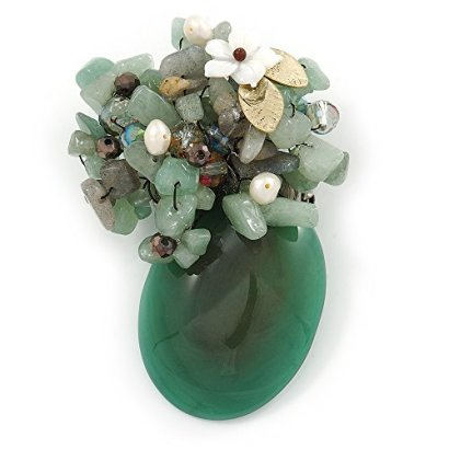 Handmade-Jade-Mother-Of-Pearl-Freshwater-Pearl-Oval-Floral-Brooch-Pendant-In-Pewter-Tone-70mm-L