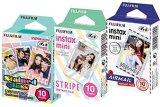 Fuji-Instax-Mini-Stained-Glass-Stripe-and-Airmail-Films-Mini-850s-Mini-90-Mini-25-Pack-of-3