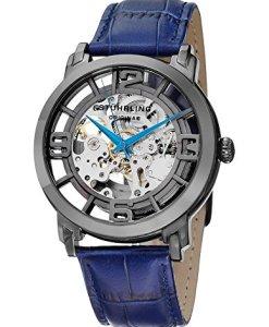 Swatch YSS1006 - Reloj de de cuarzo, para para hombre, con correa de cuero, color gris metalizado