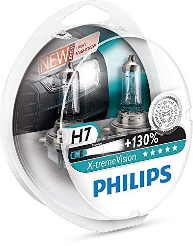 Philips 12972XV+S2 X-treme Vision Lampada alogena H7, 12V 55W, 130% di luce in più, 40% più bianca [Imballaggio: S2]