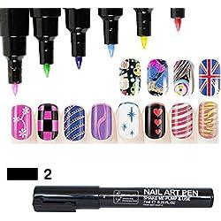 16 Farben Nagel Kunst Feder Nageldesign Stift DIY für Nail Art Salon Beauty