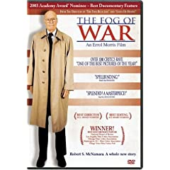 DVD box for Fog of War, Errol Morriss Academy Award-winning documentary