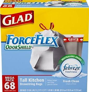 Amazoncom Glad ForceFlex OdorShield Tall Kitchen