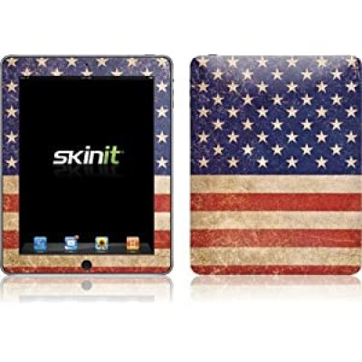 American Flag Red White and Blue Patriotic iPad vinyl skin decal / sticker at amazon
