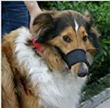 Fashion Shop Adjustable Nylong Dog Puppy Safety Muzzle Stop Biting Barking Nipping Chewing (#5 Perimeter:20cm)