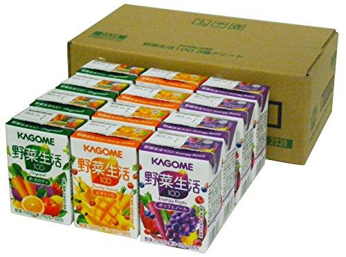 カゴメ 野菜生活100 3種アソートセット 100ml×12本