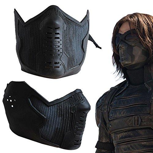 Winter Soldier James Buchanan Bucky Barnes Cosplay Latex Mask