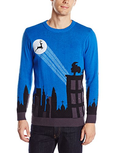 Blizzard Bay Men's Cityscape Light-Up Ugly Christmas Sweater