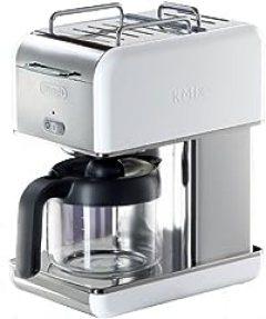 DeLonghi Kmix 10-Cup Drip Coffee Maker, White
