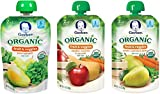 Gerber Organic 2nd Food Pouches, Fruit and Veggie Variety Pack 2, 3.5oz, 18 count