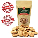 Grain Free Dog Treats - 10 Calorie, Human-Grade Puppy Training Treats + Glucosamine for Joint Health - Bite-Size Oven-Baked Dog Biscuits Made in USA - Sweet Potato, Peanut Butter, or Mint Flavor