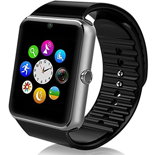 Generic Sweatproof Watch Monitor Smart Watch Phone for iPhone 5s/6/6s and 4.2 Android or Above SmartPhones-Silver/Black/Gold