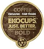 EKOCUPS Organic Artisan Coffee Bold , Dark roast for Keurig K-cup single serve Brewers, 40 count