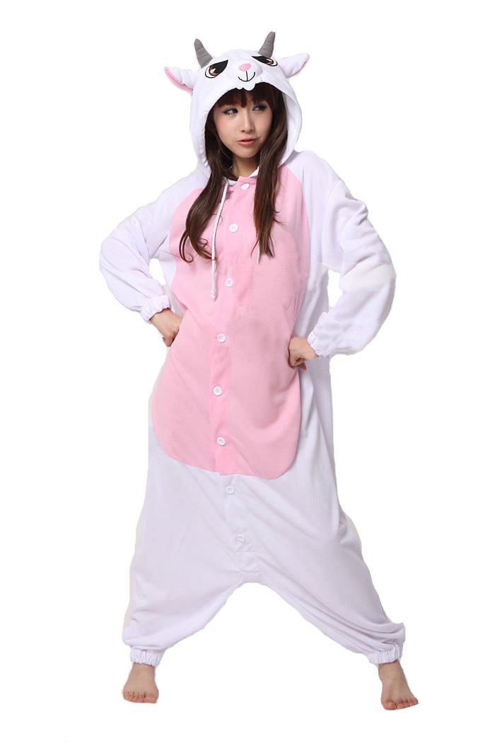 SAMGU Pajamas Anime Costume Adult Animal Onesie Goat Cosplay