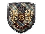 Wappen 5,5 cm * 6,2 cm BÜGELBILD AUFNÄHER APPLIKATION Orden Emblem Ritterorden Schulorden Ritter
