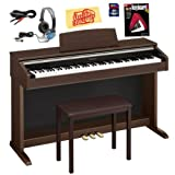 Casio AP-220 Celviano Digital Piano Bundle with Bench, 8GB SD Card, Audio Cable, Headphones, Instructional Book, and Polishing Cloth - Brown