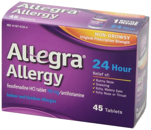 Home Product Allegra 24 Hour Allergy Relief, 180 mg, 45-Count