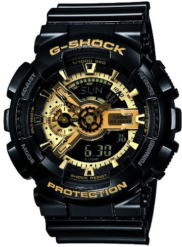 [カシオ]CASIO 腕時計 G-SHOCK ジーショック Black×Gold Series ブラックゴールドシリーズ 【数量限定】 GA-110GB-1AJF メンズ