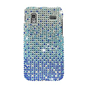 Samsung Full Diamond Bling Hard Shell Case for Samsung i927 Captivate Glide AT&T, Waterfall - Blue