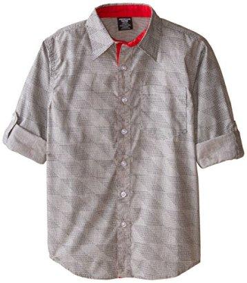 American-Hawk-Big-Boys-Long-Sleeve-Woven-Sport-Shirt