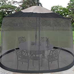 black outdoor patio screen