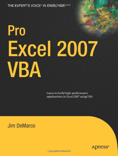 Pro Excel 2007 VBA (Expert's Voice in Excel VBA)
