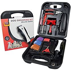 Brave the Beast - Dog Grooming Kit - Includes Pet Nail Clippers, Grooming Scissors, Combs, Nail File and More! Get the Supplies to Groom your Pets Today!