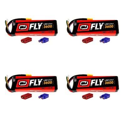 Venom-Fly-30C-4S-3600mAh-148V-LiPo-Battery-with-UNI-20-Plug-XT60DeansEC3-x4-Packs-Compare-to-E-flite-EFLB33004S50