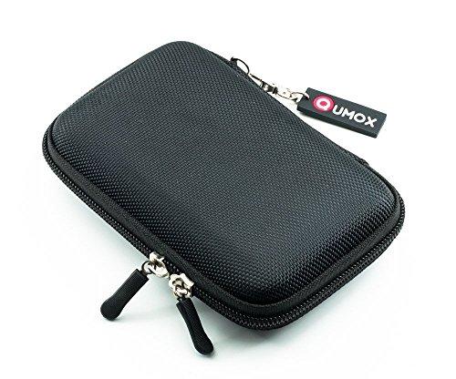 QUMOX(クモックス)2.5インチHDD用ナイロン製収納、保護バッグ/保護ケース ポータブルハードディスク·ドライブ専用(ツインチャック付き)(ブラック)