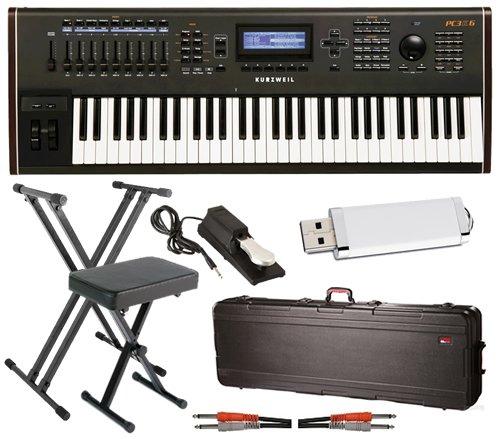 Kurzweil PC3K6 Keyboard BUNDLE w/ Case, Stand, Bench & Pedal