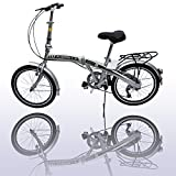 "20"" Folding Bike 7 Speed Fold Storage Bicycle College School Sports"