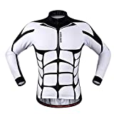 Anhvuu Unisex Long Sleeve Shirt Cycling Jerseys Warm Riding Clothing L
