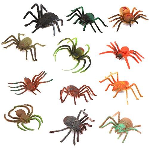 【ノーブランド品】人気動物 フィギュ スパイダー 蜘蛛セット モデルセットアニマル プラスチック おもちゃ モデル 51TJeDNByoL