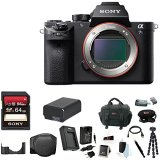 Sony-Alpha-a7SII-Mirrorless-Digital-Camera-Body-Only-Sony-64GB-SD-Memory-Card-LCSELCBB-Soft-Carrying-Case-Black-Lithium-Ion-Battery-Travel-Charger-Camera-Digital-SLR-Camera-Bag-Bundle