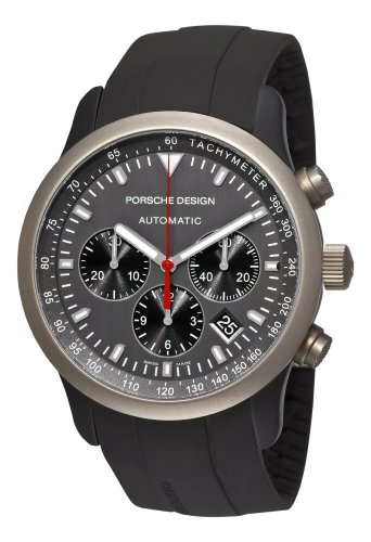 Porsche Design Men's 6612.14.50.1139 Dashboard P'6612 Titanium and Aluminum Grey Dial Watch