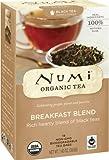 Numi Organic Tea Fair Trade Breakfast Blend, Black Tea, 18 Count Tea Bags (Pack of 3)