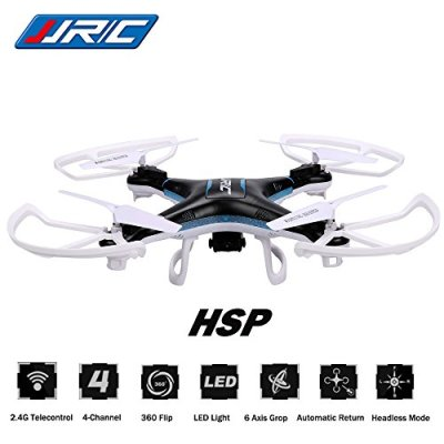 3D-Roll-Headless-RC-Quadcopter-CEStore-JJRC-H5P-6-Axis-4Ch-Gyro-Drone-Helicopter-RTF-Ready-To-Fly-24GHz-Remote-Control-with-Removable-20MP-HD-Video-Camera-Headless-with-LED-Flying-Saucer-UFO