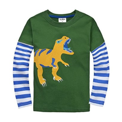 IGOLong-Sleeve-Baby-boys-clothing-infant-toddler-Dinosaur-T-shirts-CG25T5