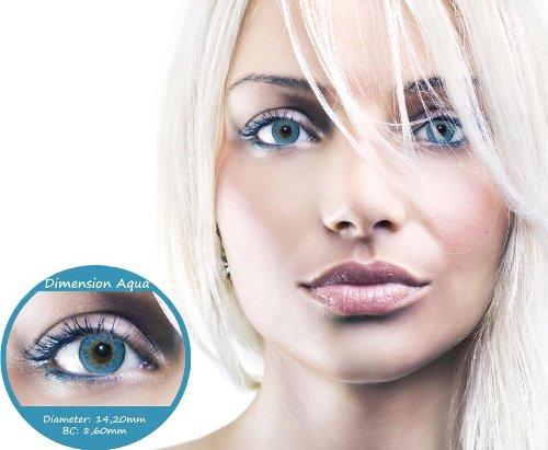 Designlenses Farbige Kontaktlinsen Blau 3 Monatslinsen Contact lenses Design: Dimension Aqua