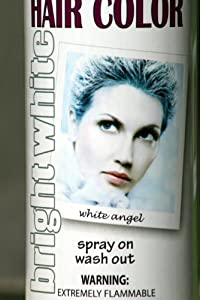 spray on wash out white hair color temporary hairspray great for costume or