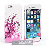 Yousave Accessories iPhone 6 Plus Case Floral Bee Silicone Gel Cover
