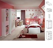Jugendzimmer Sissi, 4tlg., weiß/rosa NEU