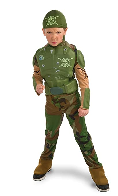 Rubie's Deluxe Combat Marine Costume - Large (8 to 10 Years)